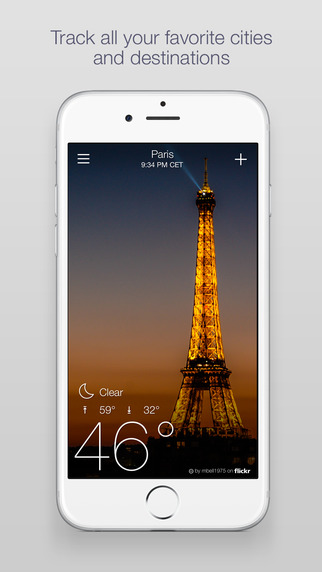 Yahoo weather pre iPhone