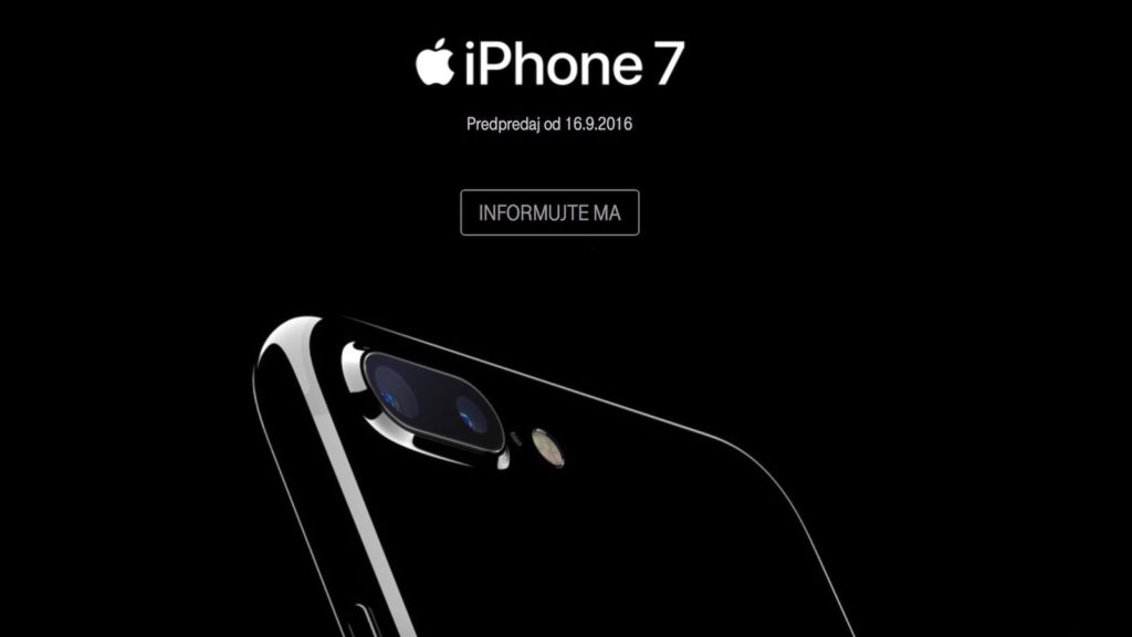 Apple iPhone 7 predpredaj telekom