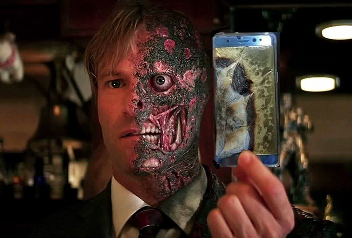 Note 7 Batman Two Face